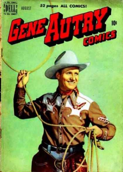 Gene Autry Comics 42 - 52 Pages All Comics - Dell - Cowboy - Lasso - Rope