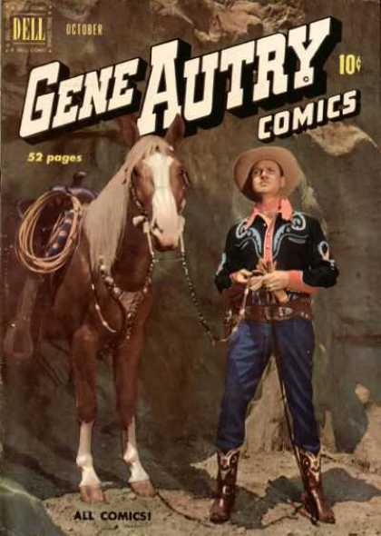 Gene Autry Comics 44 - Dell - October - Horse - Man - All Comics
