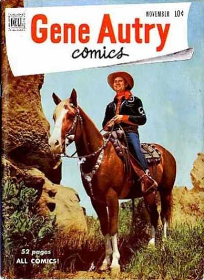 Gene Autry Comics 45 - Dell - November - Cowboy - Horse - Western
