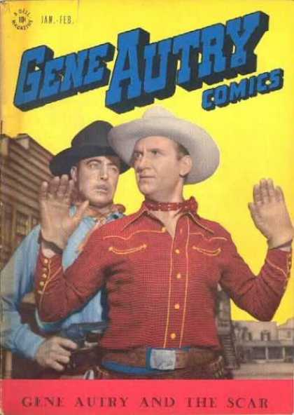Gene Autry Comics 5 - Cap - Jan-feb - Belt - The Scar - Two Men