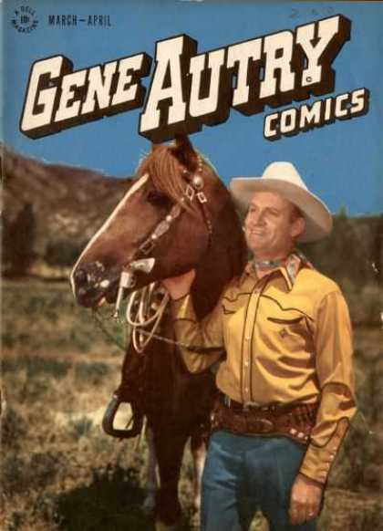 Gene Autry Comics 6 - Gene Autry Comics - March-april - Horse - Gene Autry - Mountain