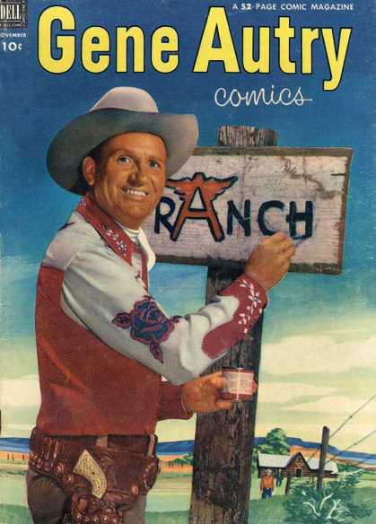 Gene Autry Comics 69 - Dell Comics - Cowboys - Western - Silver Age - Tv Personalities