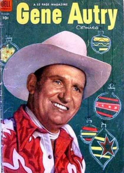 Gene Autry Comics 82 - Cowboy Hat - Ornament - Christmas - Green - Red