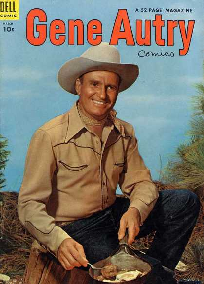 Gene Autry Comics 85 - Cowboy Show - Camping In The Prarie - Lone Cowboy - Cattle Man - Eating Of The Land