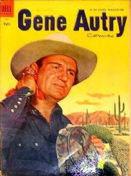 Gene Autry Comics 89 - Yellow - Cactus - Canteen - Hat - Mountain