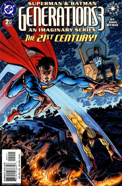 Generations 3 2 - Superman - Batman - Flames - Flying - Cape