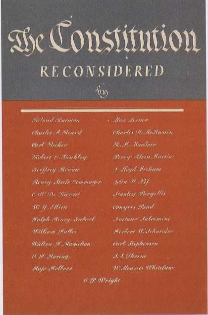 George Salter's Covers - The Constitution Reconsidered