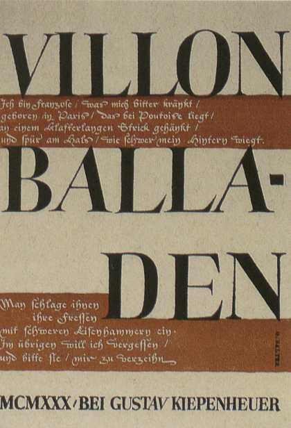 George Salter's Covers - Villon Balladen