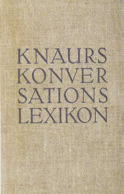 George Salter's Covers - Knaurs Konversationslexikon