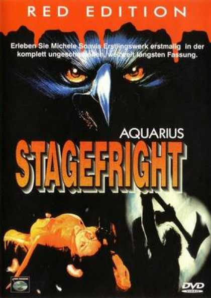 German DVDs - Stage Fright Red
