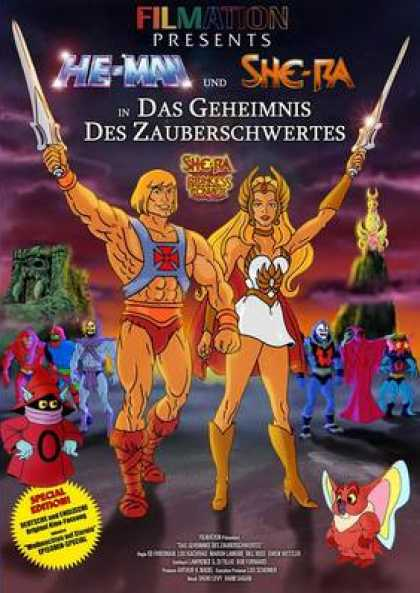 German DVDs - He Man Secret Of The Sword