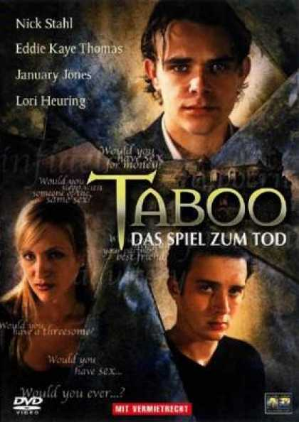 German DVDs - Taboo The Game To Death