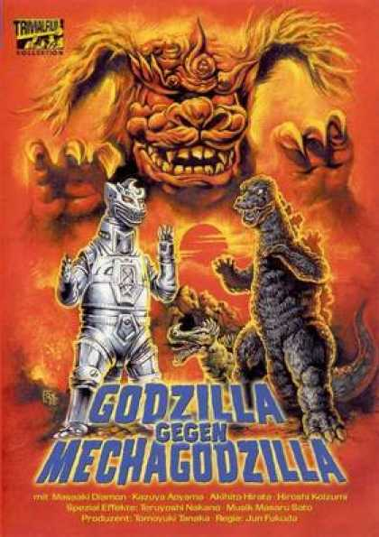 German DVDs - Godzilla And Mechagodzilla