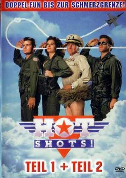 German DVDs - Hot Shots Part 1 And 2