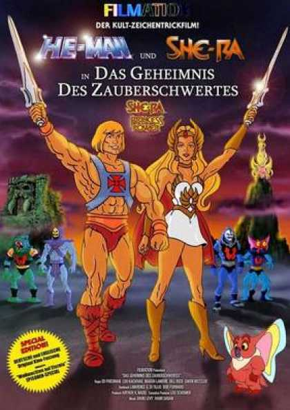 German DVDs - He Man And She Ra
