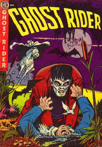 Ghost Rider (1951) 10 - Marsh - White Rider - Bats - Frankenstein - Full Moon