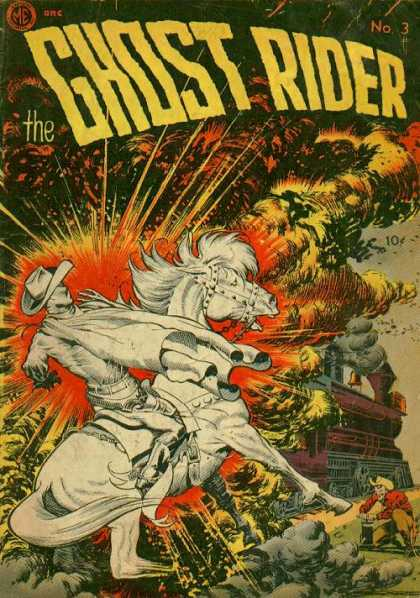 Ghost Rider (1951) 3 - Ghost - Horse - Rider - Explosion - Steam Engine