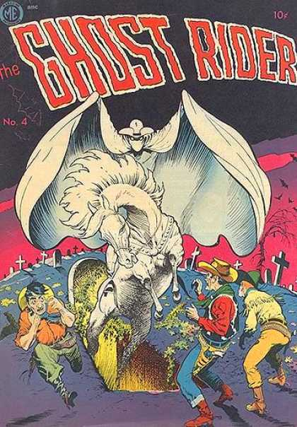 Ghost Rider (1951) 4 - White Stallion - Graveyard - Cowboys - Pink Sky - Tombstones