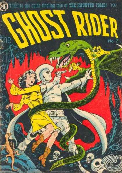 Ghost Rider (1951) 7 - Me - Green Snake - Fangs - Women In Yellow - Ghost Pointing Gun