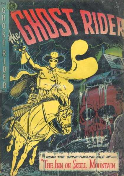Ghost Rider (1951) 8 - Monster - Horse - Hat - Cape - House