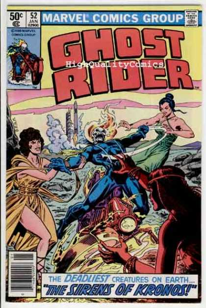 Ghost Rider 52 - Motorcycle - The Sirens Of Kronos - Skull - Rocket - Deadliest Creatures On Earth - Ron Garney