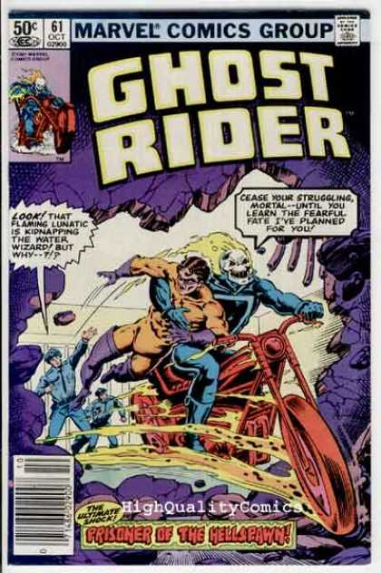 Ghost Rider 61 - Prisioner Of The Hellspawn - Policeman - Motocycle - Marvel Comics Group - Water Wizard - Bob Wiacek, Salvador Larroca