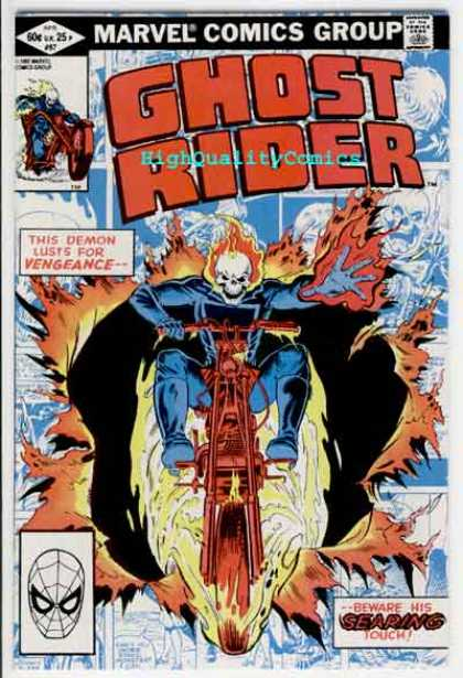 Ghost Rider 67 - Searing Touch - Marvel Comics Group - High Quality Comics - Vengeance - Demon - Salvador Larroca