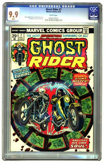 Ghost Rider 7 - Stunt-master - Zodiac - Death Duel - Soul - Motorcycles - Dick Ayers, Richard Corben