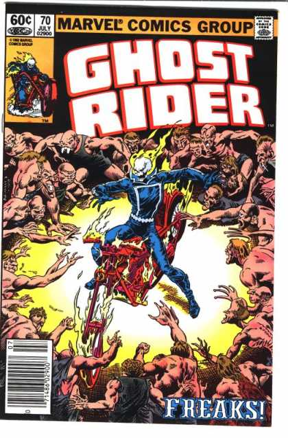 Ghost Rider 70 - Skeleton - Undeath - Flames - Monsters - Chopper - Dave Simons, Salvador Larroca