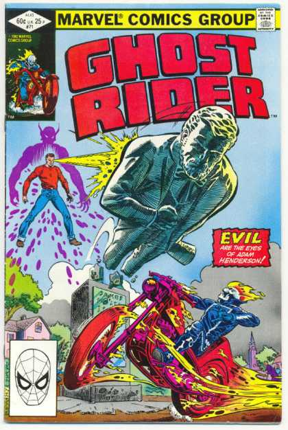 Ghost Rider 71 - Flaming Motorcycle - Abraham Lincoln - Statue - Adam Henderson - Purple Shadow - Dave Simons, Salvador Larroca