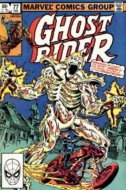 Ghost Rider 77 - Johnny Blaze - Motorcycle - Skeleton - Scary Houses - Flames - Dave Simons, Salvador Larroca