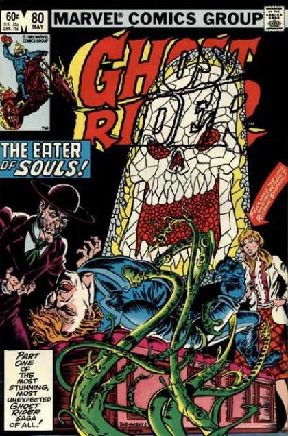 Ghost Rider 80 - Skull - Stained Glass - Johnny Blaze - Dave Simons, Salvador Larroca