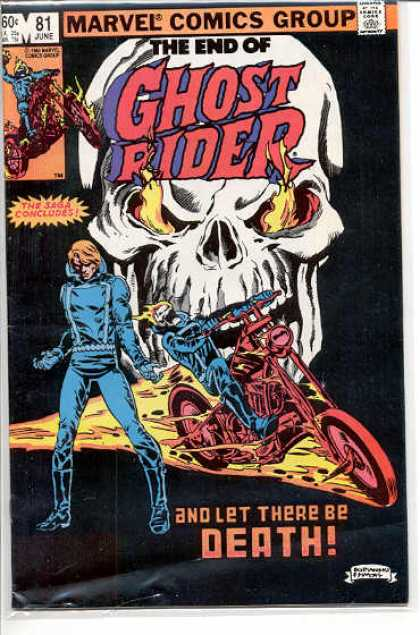 Ghost Rider 81 - Skull - Motorcycle - Death - Concluded - Flame - Dave Simons, Salvador Larroca