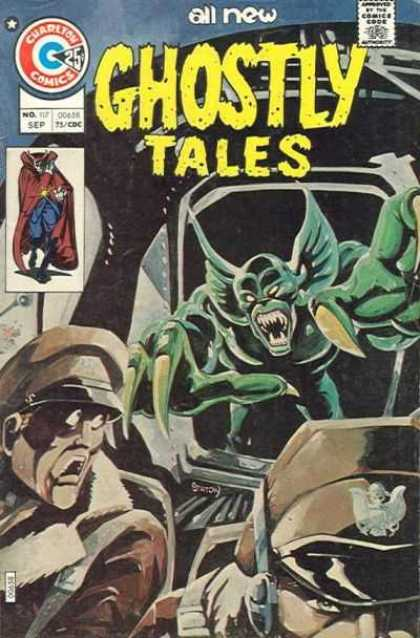 Ghostly Tales 117 - Charleton Comics - Vampire - Soldiers - Green Monster - Sep