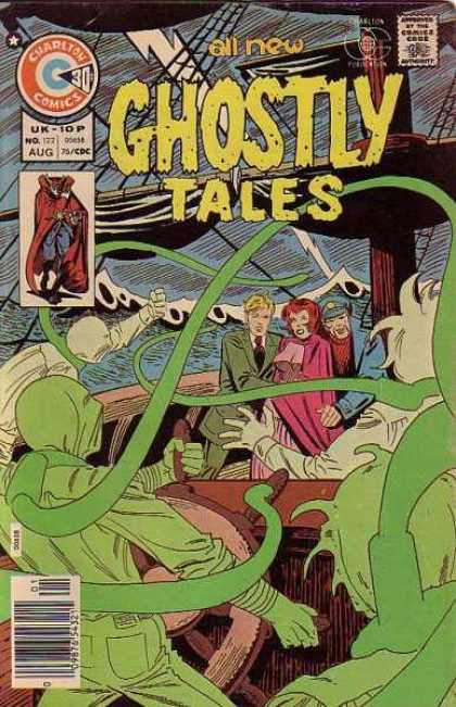 Ghostly Tales 122 - Uk - 10 P - No 177 - Aug - Men Dressed In Green - Men Holding Woman