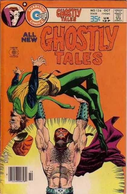 Ghostly Tales 126 - Muscled Man - All New - No 126 - Lifting Up Man - Green Tights