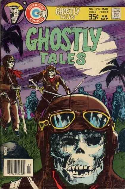 Ghostly Tales 128 - Vampire - Moon - Palm Tree - Skeleton - Grass