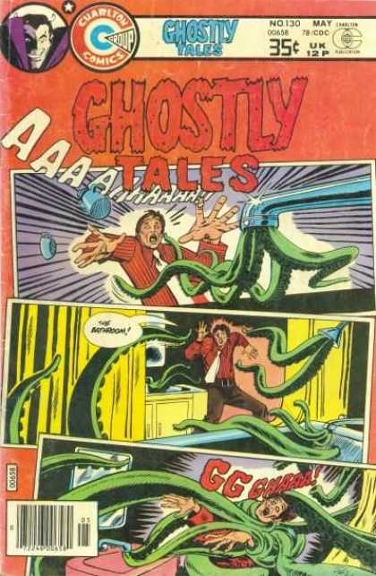 Ghostly Tales 130 - Charlton Comics - Monster - Bathrom - Mirror - May