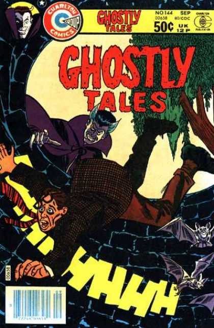 Ghostly Tales 144 - Charlton Comics - Vampire - Tree - Man - Bat