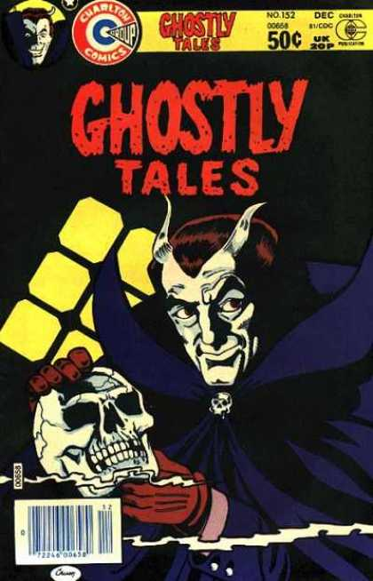 Ghostly Tales 152 - Ghostly Tales - Charlton Comics - Skeleton Skull - Yellow Boxes - Horns