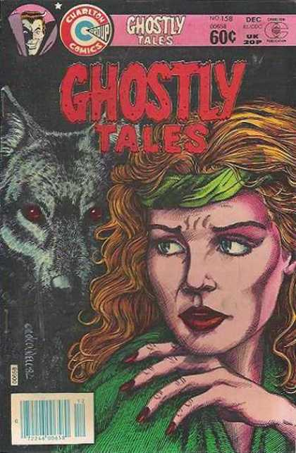 Ghostly Tales 158 - Wolf - Woman - Green Headband - Red Nails - Brown Hair