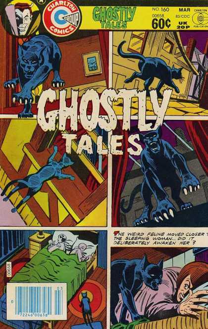 Ghostly Tales 160 - Chartlon Comics - Mar - Bed - Pillow - Cat