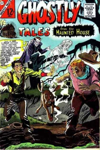 Ghostly Tales 56 - Ghost - Dog - Fallen Tree - Cowboy Hat - Ditch