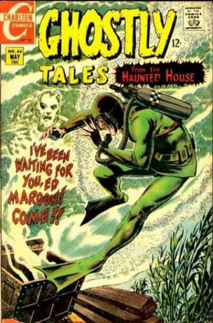 Ghostly Tales 66 - Charlton Comics - Haunted House - Comics Code - Maroon - Monster