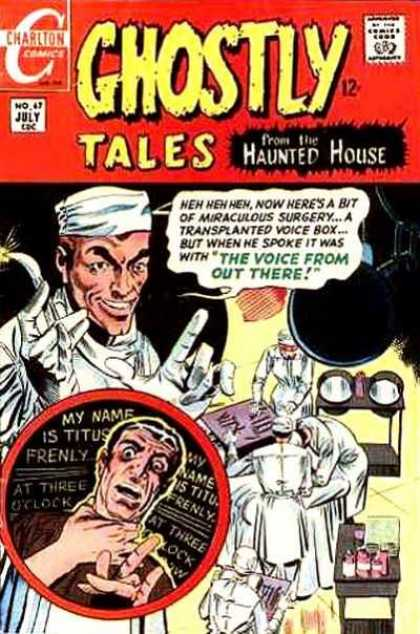Ghostly Tales 67 - Hospital - Doctor - Operating - Knife - Nurse