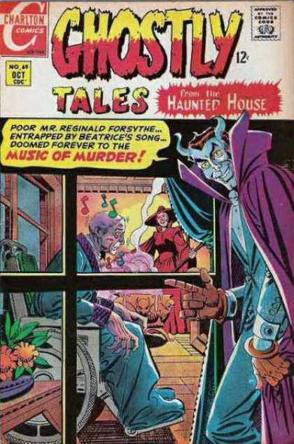 Ghostly Tales 69 - Charlton Comics - Comics Code - Haunted House - Music Of Murder - Demon