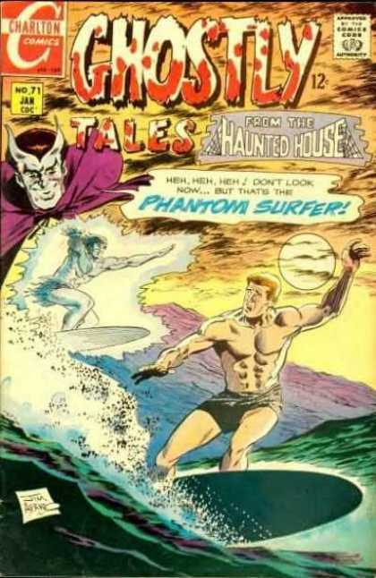 Ghostly Tales 71 - Phantom Surfer - Sun - Waves - Surfboard - Ocean