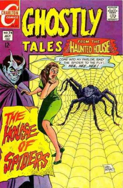 Ghostly Tales 74 - From The Haunted House - The House Of Spiders - Spider - Parlor - Woman