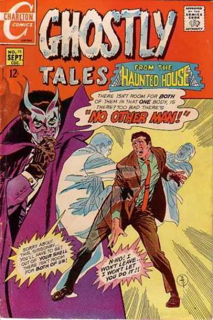 Ghostly Tales 75 - Charlton - Haunted House - Speech Bubble - Men - Dracula