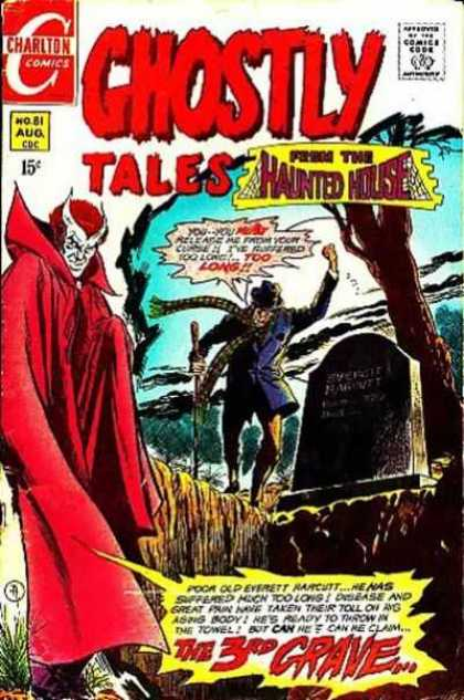 Ghostly Tales 81 - Red Devil - Haunted House - Grave - Charlton Comics - Scary